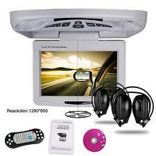 "XTRONS 11.3"" HD Digital Car CD DVD  Roof Flip down Player Game VAN BUS Headphone"