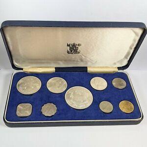 1966 Bahamas Islands 9 Coin Set 4 Silver Coins 2.87 Ounces UNC 181639B