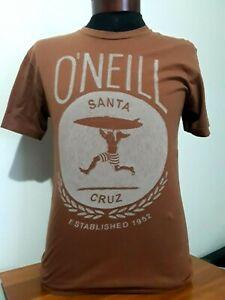 Oneill Santa Cruz Surf T-Shirt MENS MED Premium Fit Orange Crew Short Sleeve Tee