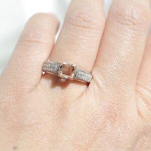 14K TWO-TONE GOLD DIAMOND SEMI MOUNT RING