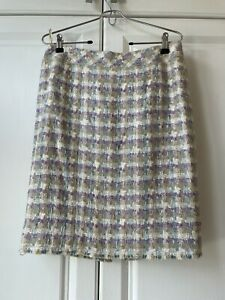 Chanel Skirt Woven In Cotton And Linen / Size 40