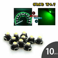 10X Green T4.7 1SMD Instrument LED Light Bulb Neo Wedge Panel Gauges Lamp