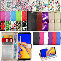 For SAMSUNG GALAXY J4 Plus SM-J415F Case Wallet Cover Leather + Screen Protector