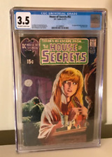 HOUSE OF SECRETS 92 CGC 3.5 First Appearance of SWAMP THING