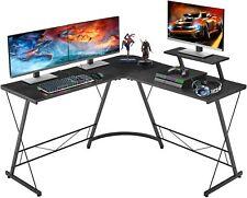 Corner Desk L Shaped Computer Home Office Workstation Study Gaming Adjustable UK