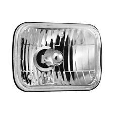 "For Ford E-350 Econoline 79-95 7x6"" Rectangular Chrome Crystal Headlights"