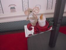 """Charming Tails-4.5"""" Holiday Lighted Fig.Nothing Like A Warm Christmas Tail-Nib"""
