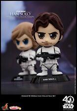 Hot Toys Star Wars Doll COSBABY Bobble-Head Luke Skywalker & Han Solo Figures
