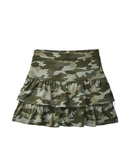 Justice Girl's Size 8 Camo Tiered Skirt With Built In Shorts New With Tags