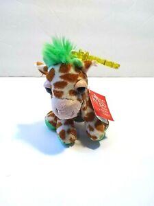 "Russ Berrie Li'l Peepers Kenya Giraffe Plush Clip Miniature 4"" New"
