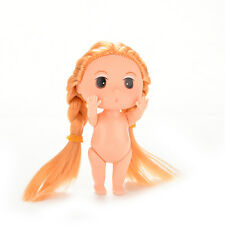1 X Mini Super Long Blond Hair Doll for ddung Kid Birthday Cake Mold Decor U150
