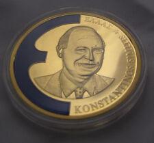 Göde Münze Medaille Europa 1998 Konstantinos Simitis Griech Vergoldet emailliert
