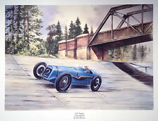 MR910 G.P. Delegate at Brooklands Beautiful Motoring Classic Car Print Poster