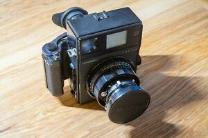 Mamiya Universal Press Camera & Rare 100mm f/2.8 & 6x9 Magazin TOP CONDITION