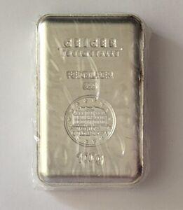 Geiger 100 gram silver bar. Sealed.