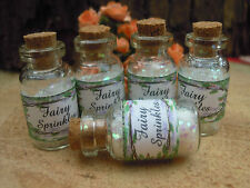 5 Fairy Dust Sprinkles Vials Party Favours white Pixie,Wishing,Angel