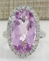 Luxury Huge Oval 5ct Amethyst Wedding Ring 925 Silver Engagement Jewelry Gifts