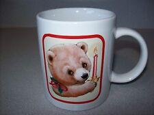 Teddy Bear Ceramic Christmas Coffee Mug Holiday Cup Bill Ruth Morehead 2003 EUC