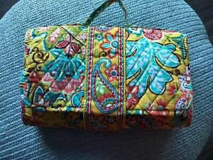 Vera Bradley changing pad clutch Provençal  yellow floral preowned