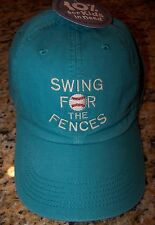 Life is Good SWING FOR THE FENCES Chill Cap Hat TEAL BLUE Kid's Med/Lg  ~ NWT