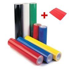 Starter kit 5 rotoli di vinile adesivo x plotter 60cm x 8 mt cadauno + Spatolina