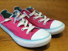 ad142795814bb7 Converse CT All Star UK 2 EU 34 Raspberry Canvas Casual Trainers