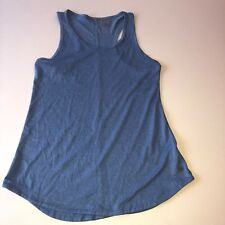 Layer 8 Womens Performance Fitness Qwick-Dry Athletic Tank Top Blue Size Medium