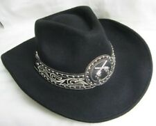 Western Cowgirl Hat Felt Montana West - MED  New  Black w/Pistols 9020