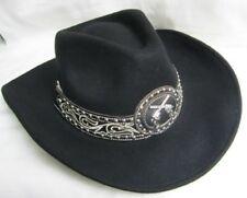 Western Cowgirl Hat Felt Montana West - MED  New  Black w/Pistols 9020