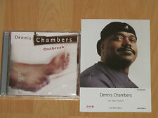 Dennis Chambers-Outbreak-Randy Brecker John Scofield + promo photo en couleurs-NEUF