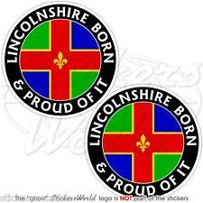 LINCOLNSHRE Englisch Geboren & Stolz UK Vinyl Sticker Aufkleber 75mm x2