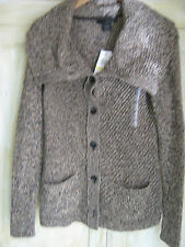 Calvin Klein-Brown Marl Knit cardigan-Petite Medium-Orig $79.50--New w/tags