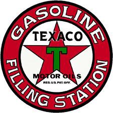 TEXACO FILLING STATION  VINYL STICKER (A1883) 12 INCH
