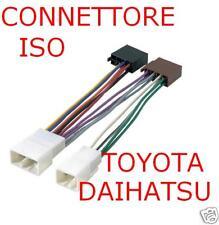 CONNETTORE CAVO ISO AUTORADIO TOYOTA DAIHATSU  CITROEN C1 PEUGEOT 107 04713