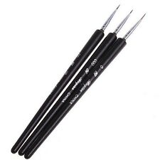 3Pcs Nail Art Pen Dotting Painting Drawing UV Gel Liner Polish Brush Tools