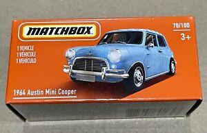 Matchbox 1964 Austin Mini Cooper Blue 2021 Power Grab