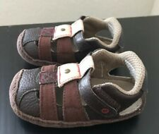 New~STRIDE RITE Crib & Crawl shoes Sandals Catch of the day Size 2  3-6 mo. Boys