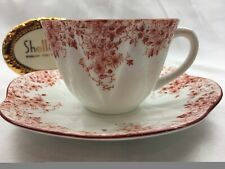 SHELLEY  DAINTY ORANGE (SIENNA) DAISY   0150/8 * CUP AND SAUCER  *