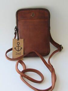 Harbour 2nd Benita Brown Genuine Leather Crossbody Belt Bag  NWT