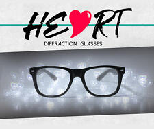 See Hearts! GloFX Heart Shaped Diffraction Glasses Rave EDM Prism Firework 3d