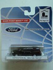 RIVER POINT  FORD  EXPEDITION  EL   SUV    BLACK    1/87  HO    PLASTIC  CAR