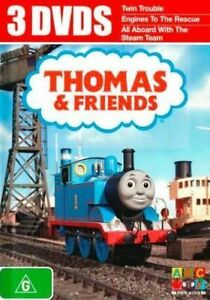 Thomas & Friends 3DVD -Twin Trouble-Engines To The Rescue -All Aboard with - NEW