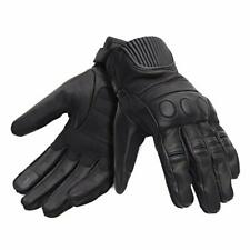Royal Enfield Vintage Black Leather Protective Riding Gloves for Men UK