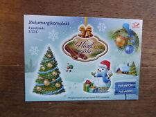 ESTONIA 2017 CHRISTMAS 4 STAMP MINI SHEET MINT STAMPS