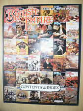 Flyer - THE BRITISH EMPIRE 1973- BBC TV Time Life Books, No.98: Contents & Index