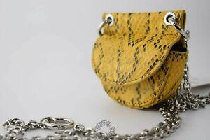 Zara Yellow Snake Print Mini Crossbody Belt Bag or Purse NWT