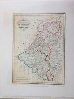 Ref. MC-722 Royaumes De Belgique ET DE Hollande by Th. Lejeune Lithograph Print