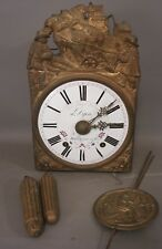 19thC Antique FRENCH VICTORIAN Figural WAG on WALL Farm PLOW HORSE BRASS CLOCK