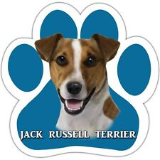 Jack Russell Terrier Paw Shaped Car Magnet