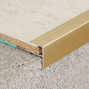Treppenprofil, Treppensanierung mit Laminat oder Vinyl 120cm - Gold
